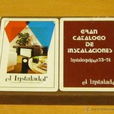 Mazzi di carte: CAJA 2 BARAJAS DE 55 CARTAS ANTIGUAS - ACESA + EL INSTALADOR - HERACLIO FOURNIER - VER DESCRIPCION. Lote 39735346