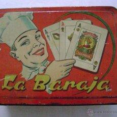 Barajas de cartas: CAJA LITOGRAFIADA. LA BARAJA. Lote 39756530