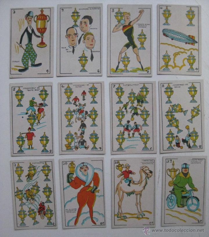 Barajas de cartas: PRECIOSA BARAJA COMICO ARTISTICA DEPORTIVA, años 1930, El reverso es Cine Manual DEL GATO FELIZ - Foto 3 - 209658851