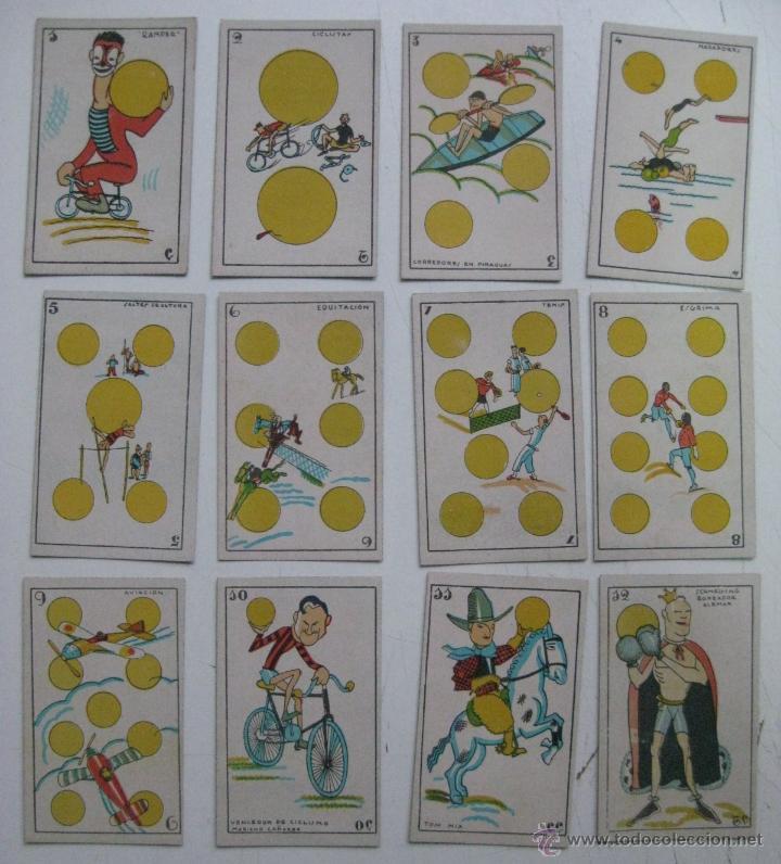 Barajas de cartas: PRECIOSA BARAJA COMICO ARTISTICA DEPORTIVA, años 1930, El reverso es Cine Manual DEL GATO FELIZ - Foto 8 - 209658851