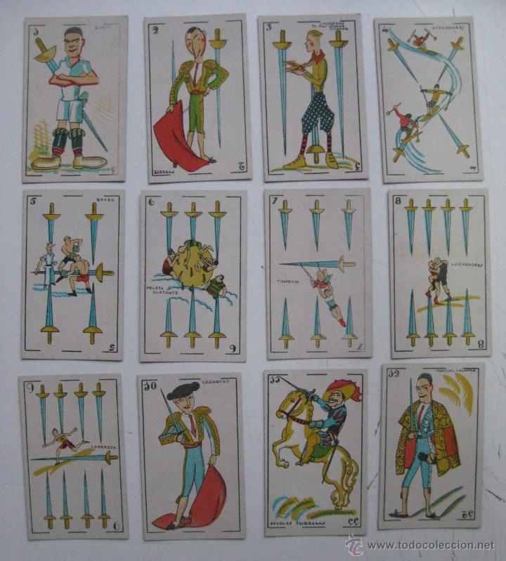 Barajas de cartas: PRECIOSA BARAJA COMICO ARTISTICA DEPORTIVA, años 1930, El reverso es Cine Manual DEL GATO FELIZ - Foto 13 - 209658851