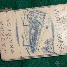 Barajas de cartas: BARAJA ESPAÑOLA DE SIMEON DURA - VALENCIA - TIMBRE 30 CTS - ESTUCHE ORIGINAL Y SELLOS. COLECCIONIST. Lote 40026939