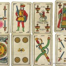 Barajas de cartas: BARAJA COMPLETA 40 CARTAS EL CID, SIMEON DURA EN VALENCIA. TIMBRE 1,25 PTS.. Lote 40126204