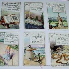 Barajas de cartas: ANTIGUA BARAJA DE TAROT - AÑO 1940 - PARA ADIVINAR EL PORVENIR - ORIGINAL COMPLETA CON 36 CARTAS O N. Lote 38239391