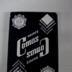 Barajas de cartas: ANTIGUA BARAJA DE CARTAS - NAIPES COMAS - 50 CARTAS - NAIPE ESPAÑOL - CON PUBLICIDAD DE ASCENSORES O. Lote 38264677