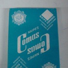 Barajas de cartas: ANTIGUA BARAJA DE CARTAS - NAIPES COMAS - 50 CARTAS - NAIPE ESPAÑOL - CON PUBLICIDAD DEL SISTEMA SHE. Lote 38264680