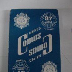 Barajas de cartas: ANTIGUA BARAJA DE CARTAS - NAIPES COMAS - 54 CARTAS - NAIPE ESPAÑOL - POKER - CON PUBLICIDAD DE DUCA. Lote 38264683