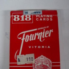 Barajas de cartas: ANTIGUA BARAJA DE CARTAS - HERACLIO FOURNIER - VITORIA - 818 PLAYING CARDS - 54 CARTAS - PLASTIC COA. Lote 38264854