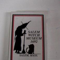Barajas de cartas: ANTIGUA BARAJA SALEM WITCH MUSEUM 1692, SALEM, MASS. PLASTIC COATED PLAYING CARDS, EXCELENTE ESTADO . Lote 38265001