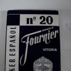 Barajas de cartas: ANTIGUA BARAJA DE CARTAS - POKER ESPAÑOL Nº 20 - HERACLIO FOURNIER - VITORIA - 54 CARTAS - COMPLETA . Lote 38265013