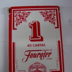 Barajas de cartas: ANTIGUA BARAJA DE CARTAS - 40 CARTAS - BARAJA ESPAÑOLA - POR HERACLIO FOURNIER, VITORIA - OLD DECK O. Lote 38265019