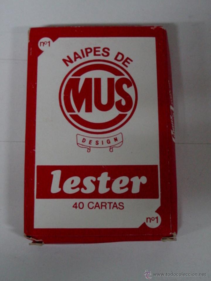 ANTIGUA BARAJA DE CARTAS - 40 CARTAS - NAIPES DE MUS, LESTER - OLD DECK OF CARDS. (Juguetes y Juegos - Cartas y Naipes - Otras Barajas)