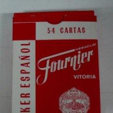Barajas de cartas: ANTIGUA BARAJA DE CARTAS - POKER ESAPAÑOL - 54 CARTAS - COMPLETA - HERACLIO FOURNIER, VITORIA - CON . Lote 38265053
