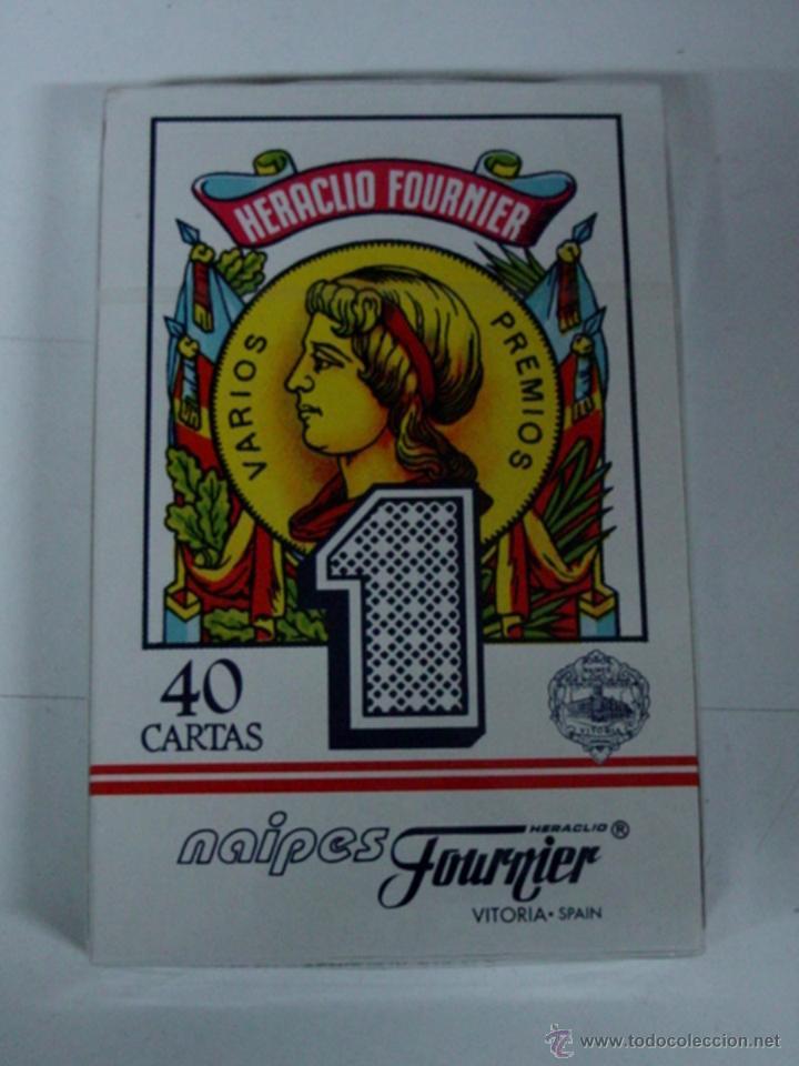 ANTIGUA BARAJA DE CARTAS - BARAJA ESPAÑOLA - 40 CARTAS - NAIPES FOURNIER, HERACLIO - COMPLETA SIN AB (Juguetes y Juegos - Cartas y Naipes - Otras Barajas)