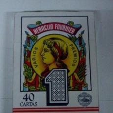 Barajas de cartas: ANTIGUA BARAJA DE CARTAS - BARAJA ESPAÑOLA - 40 CARTAS - NAIPES FOURNIER, HERACLIO - COMPLETA SIN AB. Lote 38265059