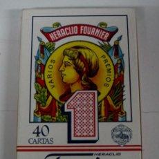 Barajas de cartas: ANTIGUA BARAJA DE CARTAS - BARAJA ESPAÑOLA 40 CARTAS - HERACLIO FOURNIER, VITORIA - COMPLETA SIN ABR. Lote 38265149