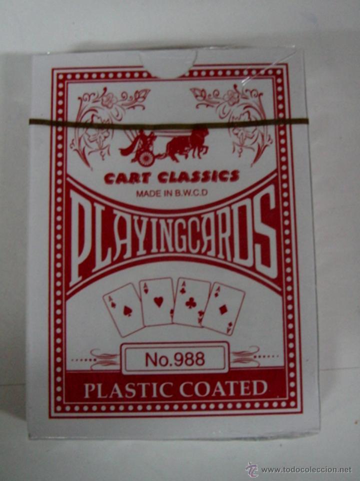 ANTIGUA BARAJA DE CARTAS - PLAYING CARDS - POKER - COMPLETA SIN ABRIR CON SU PRECINTO - OLD DECK OF (Juguetes y Juegos - Cartas y Naipes - Otras Barajas)