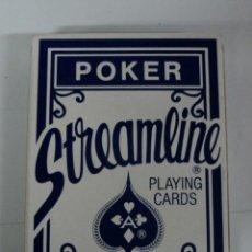 Barajas de cartas: ANTIGUA BARAJA DE POKER STREAMLINE - PLAYING CARDS - PLASTIC COATED, SMOOTH FINISH - CON SU CAJA . Lote 38265206