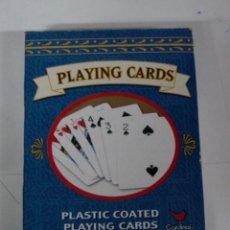 Barajas de cartas: ANTIGUA BARAJA DE POKER, PLAYING CARDS, PLASTIC COATED, CON SU CAJA, MADE IN CHINA.. Lote 38265218