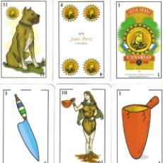 Barajas de cartas: BARAJA CANARIA ESPAÑOLA DE JUSTO PEREZ-Nº 5-AÑO 1995. Lote 141954613