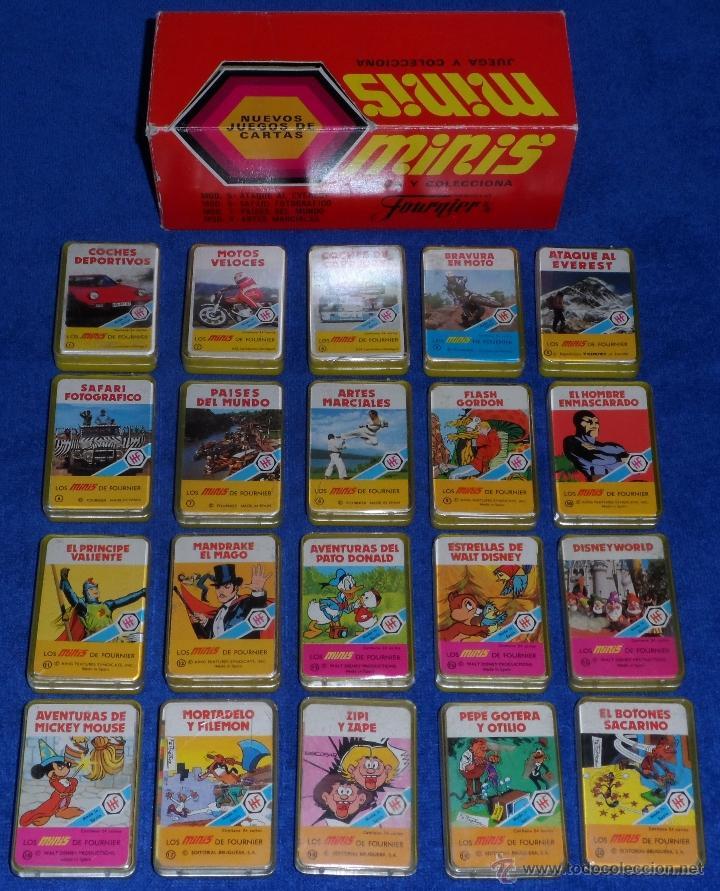 20 BARAJAS MINIS DE FOURNIER + CAJA EXPOSITOR - FOURNIER - AÑOS 1978 Y 1979 - ¡COLECCION COMPLETA! (Juguetes y Juegos - Cartas y Naipes - Barajas Infantiles)