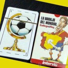 Barajas de cartas: LOTE 6 BARAJA BARAJAS MUNDIAL FUTBOL 1982. NUEVA. GALLEGO Y REY. 30 ANIVERSARIO. ENVIO ORD. 4,5 €. Lote 40641128