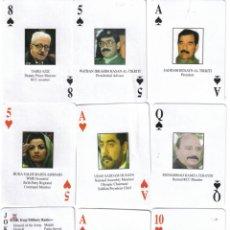 Barajas de cartas: BARAJA LOS MAS BUSCADOS DEL REGIMEN IRAQUI DE HUSAYN -AÑO 2003. Lote 131565935