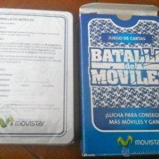 Barajas de cartas: JUEGO DE CARTAS - BARAJA BATALLA DE MÓVILES. 40 NAIPES. PUBLICIDAD MOVISTAR. NUEVA Y PRECINTADA.. Lote 40749663
