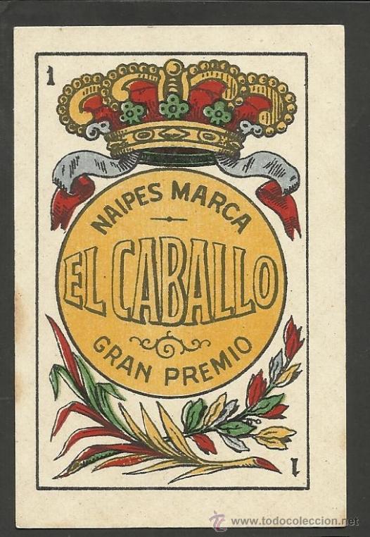 BARAJA COMPLETA 40 CARTAS EL CABALLO -L. GUARRO -EXPOSICION DE ZARAGOZA -1908 - (CR-267) (Juguetes y Juegos - Cartas y Naipes - Baraja Española)
