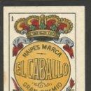 Barajas de cartas: BARAJA COMPLETA 40 CARTAS EL CABALLO -L. GUARRO -EXPOSICION DE ZARAGOZA -1908 - (CR-267). Lote 40879172