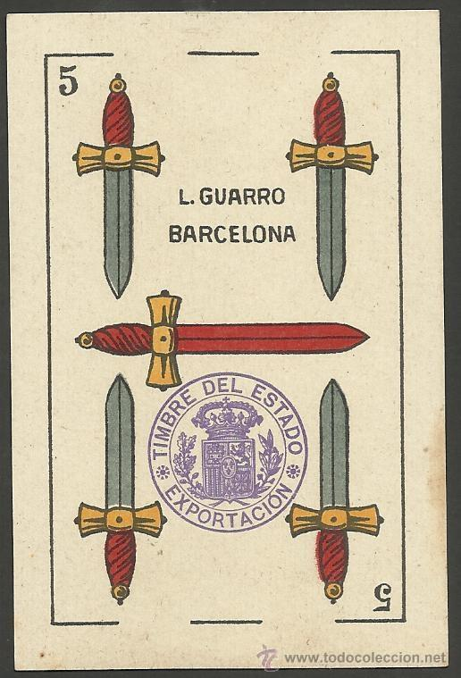 Barajas de cartas: BARAJA COMPLETA 40 CARTAS EL CABALLO -L. GUARRO -EXPOSICION DE ZARAGOZA -1908 - (CR-267) - Foto 3 - 40879172