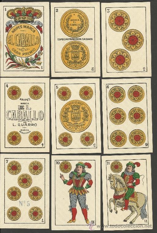 Barajas de cartas: BARAJA COMPLETA 40 CARTAS EL CABALLO -L. GUARRO -EXPOSICION DE ZARAGOZA -1908 - (CR-267) - Foto 4 - 40879172