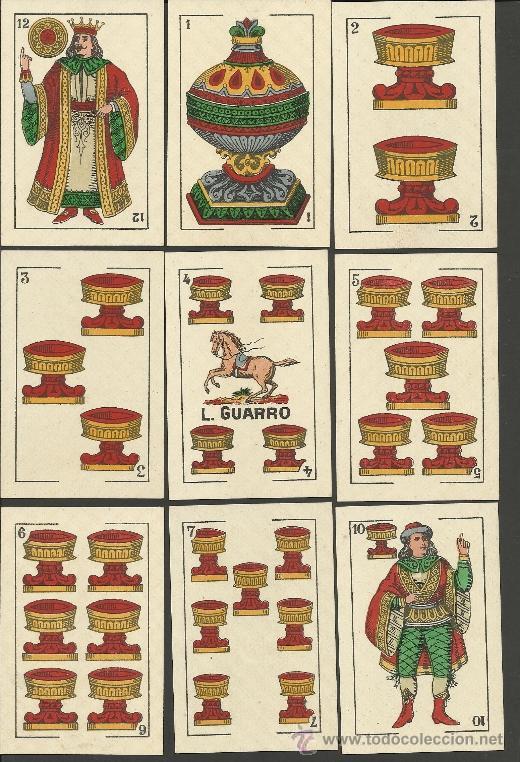 Barajas de cartas: BARAJA COMPLETA 40 CARTAS EL CABALLO -L. GUARRO -EXPOSICION DE ZARAGOZA -1908 - (CR-267) - Foto 5 - 40879172