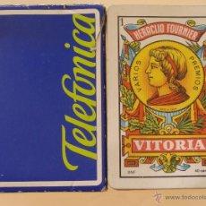 Barajas de cartas: BARAJA DE CARTAS ESPAÑOLA. FOURNIER. TELEFÓNICA ESPAÑA. TELEFONÍA, TELÉFONOS. Lote 40900128