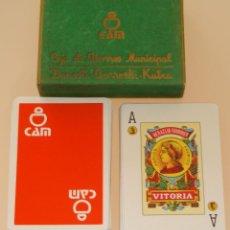Barajas de cartas: BARAJA DE CARTAS ESPAÑOLA. FOURNIER. CAJA AHORROS MUNICIPAL DE DONOSTI KUTXA. CAM. Lote 40900182