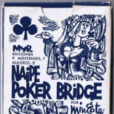 Baralhos de cartas: JUEGO NAIPES FIBRA MARFIL - MINGOTE - FOURNIER - POKER - BRIDGE -. Lote 40936372