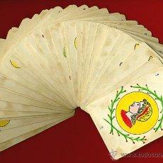 Barajas de cartas: BARAJA ANTIGUA , PINTADA A MANO , ORIGINAL, COMPLETA , 40 NAIPES , A. Lote 40969880