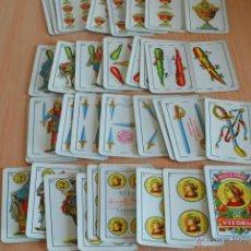 Barajas de cartas: BARAJA HERACLIO FOURNIER. EN BUEN ESTADO. TIMBRE DEL ESTADO DE 1,25 PTS. COMPLETA.. Lote 41099260