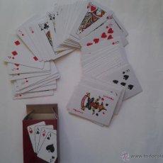 Barajas de cartas: BARAJA CARTAS POQUER, NAIPES, MINI BARAJA POKER, MINI CARDS CON DOS COMODINES.. Lote 100164658