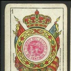 Barajas de cartas: BARAJA ESPAÑOLA TIMBRE 30 CENTIMOS- SEBASTIAN COMAS - RIÑA DE GALLOS- BARCELONA - 48 CARTAS-(CR-305 . Lote 41272097