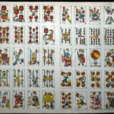 Barajas de cartas: BARAJA COMICA, JUEGO DE NAIPES COMICOS, EN RAMA, AÑOS 40. Lote 41297608
