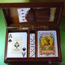 Jeux de cartes: BONITO JUEGO DE CARTAS Y DADOS EN ESTUCHE. Lote 41381657