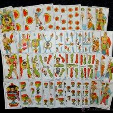 Barajas de cartas: ANTIGUA Y COMPLETA BARAJA DE CARTAS SOBRE BOXEO. 48 CARTAS. SIGLO XIX. Lote 41409969
