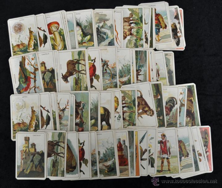 CURIOSA BARAJA ITALIANA DEL AÑO 1908. 40 + 40 CARTAS (COMPLETA) EXCELENTE ESTADO (Juguetes y Juegos - Cartas y Naipes - Otras Barajas)