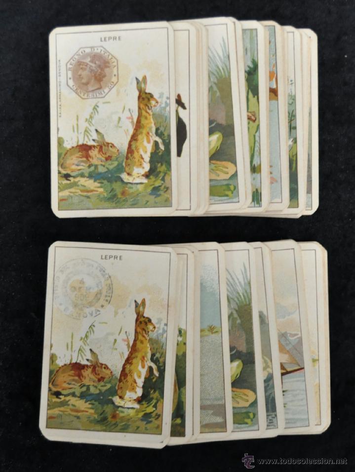 Barajas de cartas: CURIOSA BARAJA ITALIANA DEL AÑO 1908. 40 + 40 CARTAS (COMPLETA) EXCELENTE ESTADO - Foto 2 - 41410079