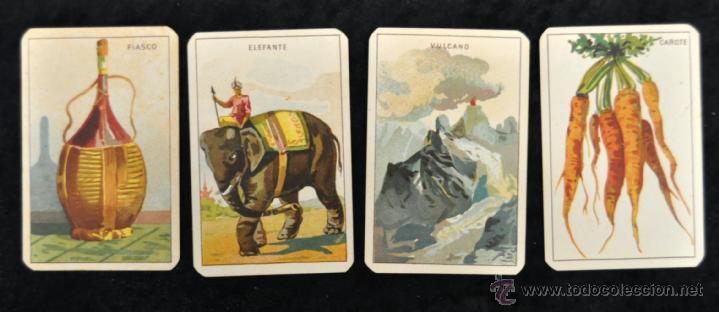 Barajas de cartas: CURIOSA BARAJA ITALIANA DEL AÑO 1908. 40 + 40 CARTAS (COMPLETA) EXCELENTE ESTADO - Foto 5 - 41410079