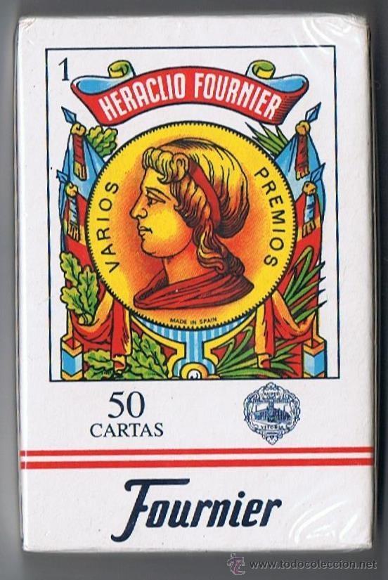 BARAJA DE CARTAS ESPAÑOLA. FOURNIER 50 NAIPES. ESTAMPADO ROJO. PRECINTADA (Juguetes y Juegos - Cartas y Naipes - Baraja Española)