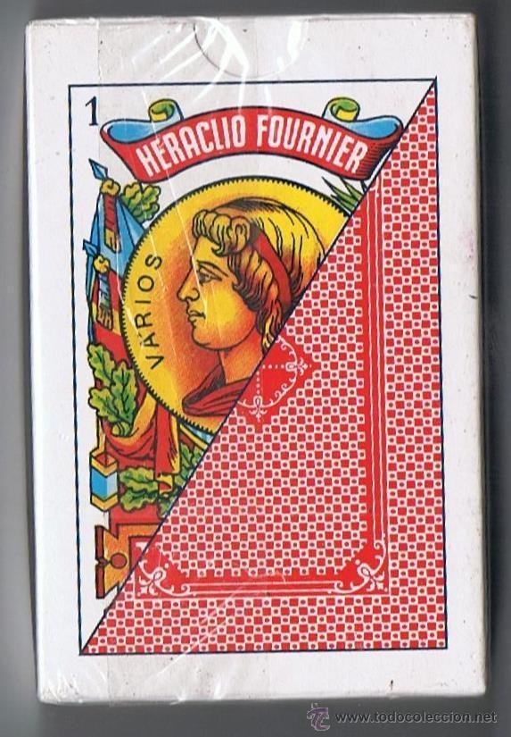 Barajas de cartas: BARAJA DE CARTAS ESPAÑOLA. FOURNIER 50 NAIPES. ESTAMPADO ROJO. PRECINTADA - Foto 2 - 100967183