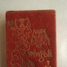 Barajas de cartas: NAIPE POKER BRIDGE POR MINGOTE. COMPLETA Y EN CAJA ORIGINAL. Lote 41629066