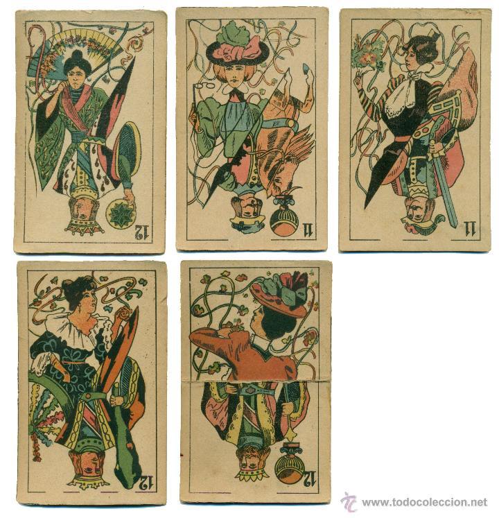 5 Cartas Espanolas Art Nouveau Para Juegos De M Comprar Baraja